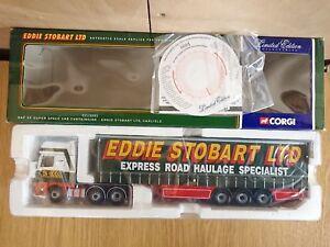 Corgi Cc13201 Daf Xf S. Cabine Espace Curtainside Stobart Ltd Modifier.   N ° 0001 sur 6400