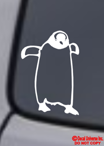 PENGUIN Vinyl Decal Sticker Car Window Wall Bumper Gentoo Bird Marching Cute