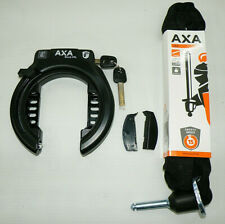 AXA Block XXL Rahmenschloss Fahrradschloss für breite Reifen mit ULC 130 Kette.