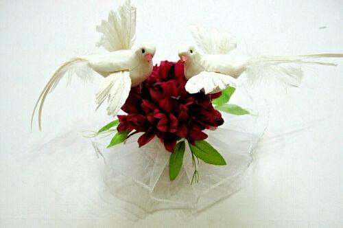 Tauben Paar Echte Federn Hochzeitstauben Tischdeko Hochzeit Braut Deko NEU HD5