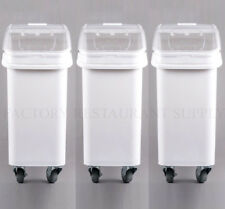 3 PACK Dry Ingredient 21 Gallon Storage Bin Caster Commercial Restaurant Kitchen