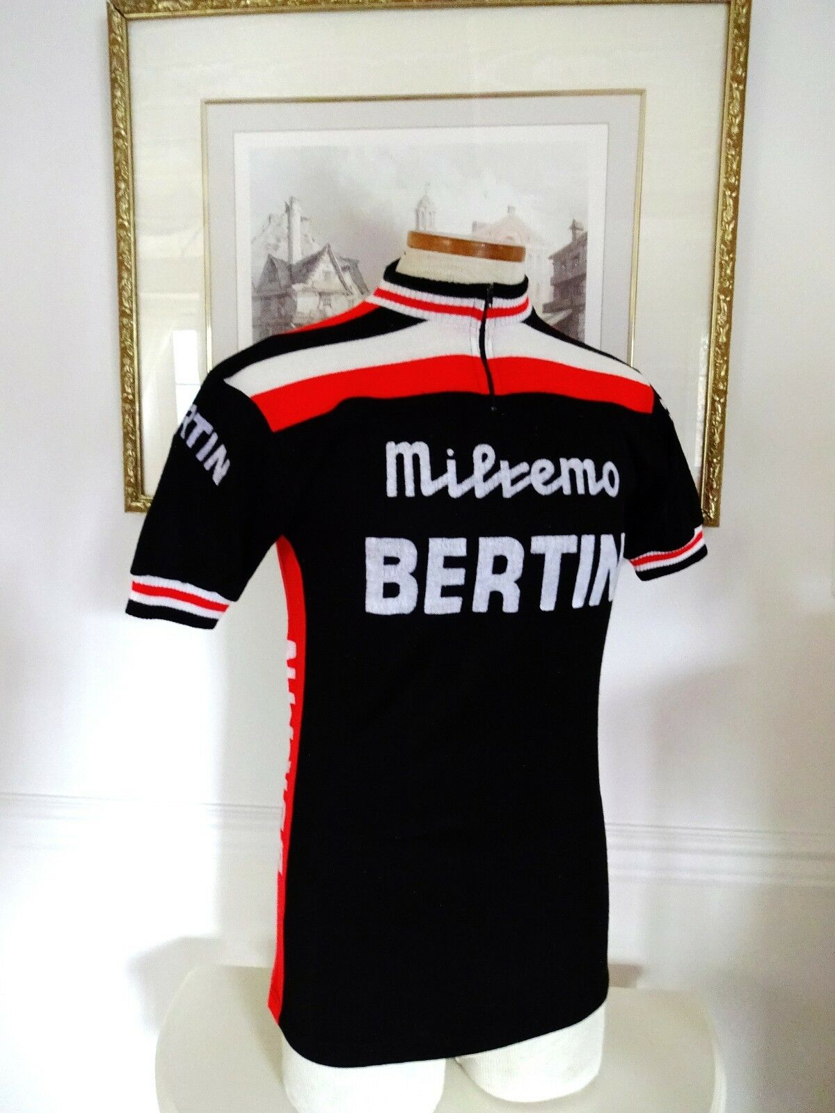 1964 BERTIN CYCLING TEAM SHORT SLEEVE CYCLING  JERSEY - FRANCE - MEDIUM  no minimum