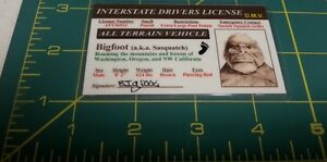 Bigfoot-aka-Sasquatch-ID-Interstate-Drivers-License-cool-collectible-Cool
