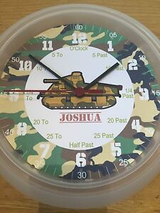 Army-Soldier-Teaching-Wall-Clock-Learn-To-Tell-The-Time-Personalised-xmas-Gift