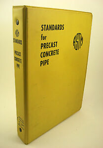 ASTM-Standards-for-Precast-Concrete-Pipe-American-Association-Vtg-1970s-Engineer
