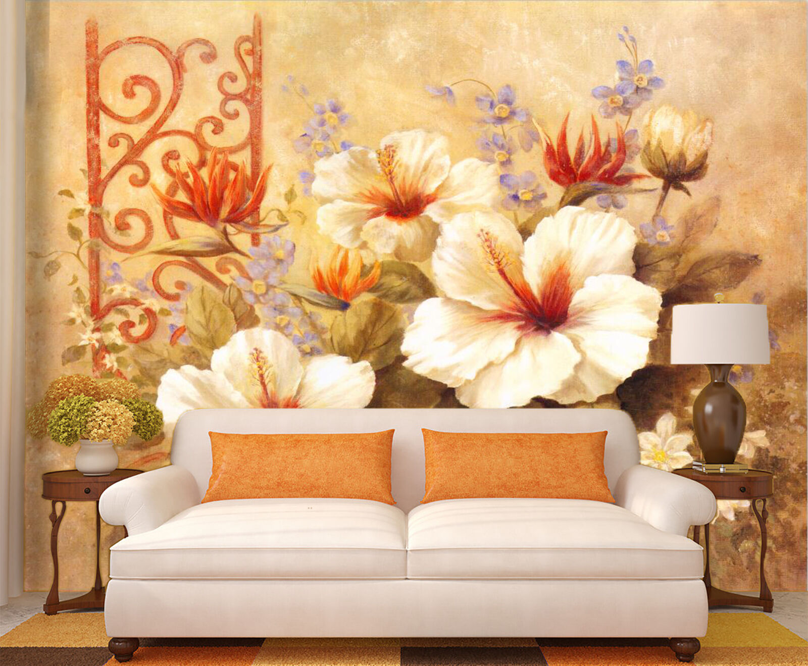 3D Flower painting 23 Wall Paper Wall Print Decal Wall Deco Indoor Wall Murals