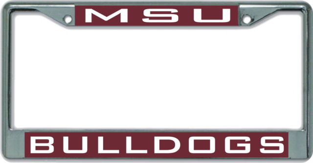 Car Tag MSU MISSISSIPPI STATE UNIVERSITY Mirrored License Plate