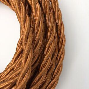 Design-Textilkabel-3-adrig-3x1-5-geflochten-Kupfer-Top-EU-Qualitat