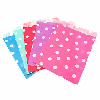 Polka-Dot Paper Party Favour Bags - Wedding Candy, Sweets, Craft, Card Gift Shop