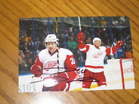 DAMIEN BRUNNER AUTOGRAPHED DETROIT RED WINGS 4X6 PHOTO # 4