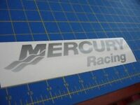 Mercury Racing Sticker Decal Silver Race Boat Outboard you Get 2