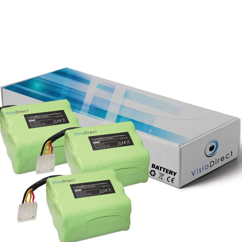 Lot de 3 batteries type 945-0006 pour Neato 7.2V 3500mAh - Société Française -
