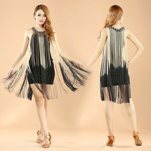 Image Is Loading Womens Tail Ombre Fringe 20s Fler Great Gatsby