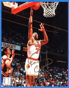 Earl Cureton NBA Houston Rockets Hand Signed Autograph 8x10 Photo NBA Hologram