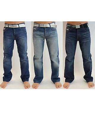 NEW Mens Smith and Jones Miguel Denim Designer Pants Trousers Jeans FREE BELT
