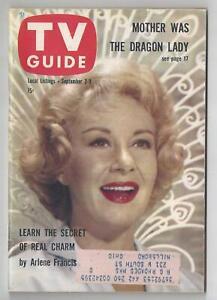 1960 Vintage Original TV Guide September 3-9 Arlene Francis