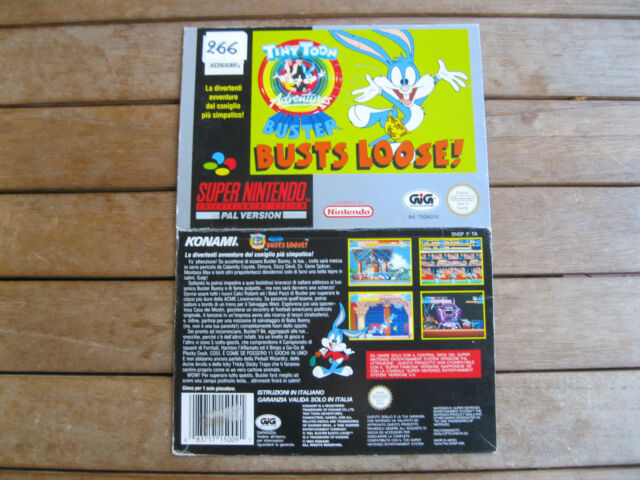 TINY TOON ADVENTURES: BUSTER BUSTS LOOSE! (1993) SNES - COVER - NO CARTUCCIA