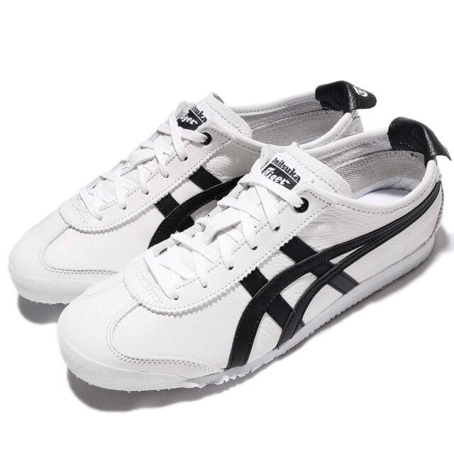 Asics Onitsuka Tiger Mexico 66 White Black Leather Men Classic Shoes D508K-0190