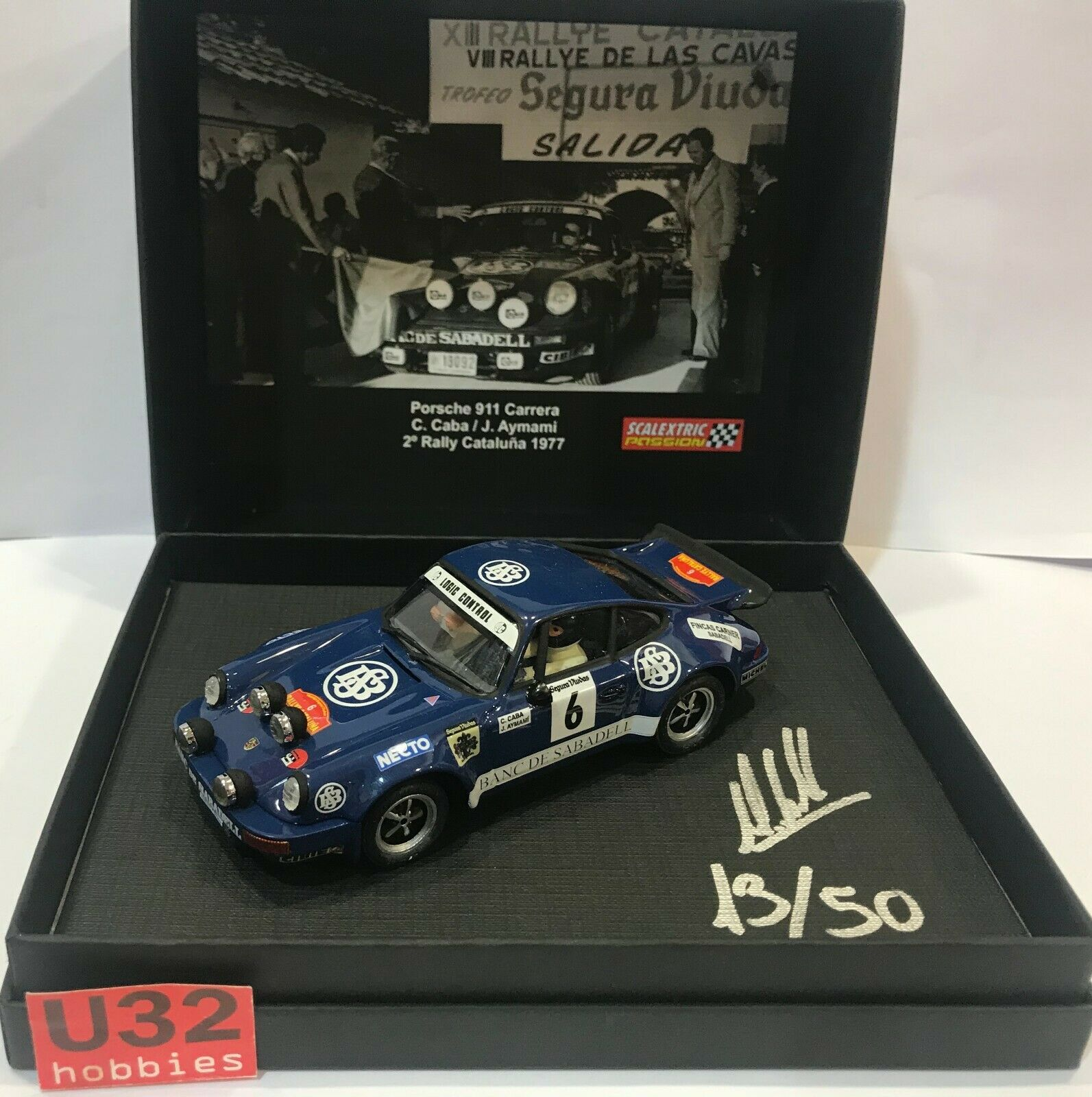 Scalextric Passion SP034 Porsche 911 Carrera  6 2º Rally Catalunya 1977 C. Caba