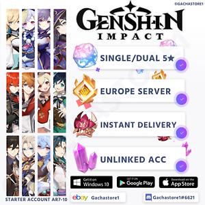 Europe-EU-Genshin-Impact-Xiao-Ganyu-Diluc-Zhongli-Childe-Keqing-Venti-Account