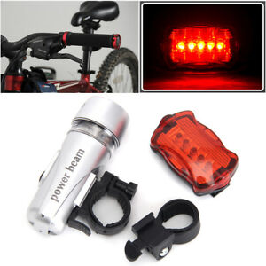 Waterproof-5-LED-Lamp-Bike-Bicycle-Front-Head-Light-Rear-Safety-Flashlight