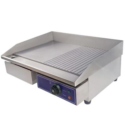 73cm Kitchen Commercial Electric Griddle Hotplate Flat BBQ Grill UK Plug New