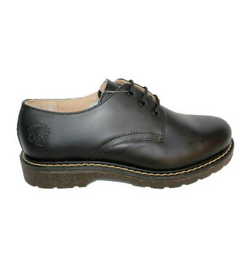 New Grinders Percival 3 Eye 2015 Black Mens Ladies Causal Leather Lace Up Shoes