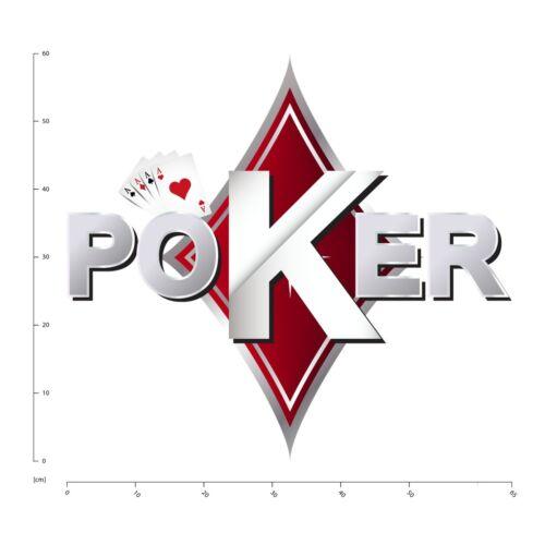 Poker Texas Holdem Sticker Muraux WS-46996