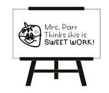 Custom Teacher Stamp Teacher Thinksthis Is Sweet Work Rubber Teacher Self Ink