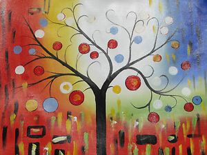 Large-Peinture-A-L-039-huile-Sur-Toile-Couleur-Abstrait-Art-Moderne-Original