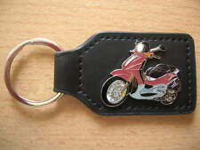 Keyring Piaggio Vespa Beverly 500 red Scooter Art 0888 Moto