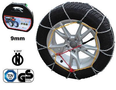 Catene Neve Power Grip 9mm Omologate Gruppo 80 pneumatici 205//60r15 Lancia Lybra