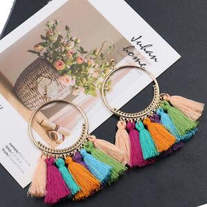 Women-Bohemian-Long-Earrings-Tassel-Fringe-Boho-Dangle-Earrings-Jewelry-Fashion