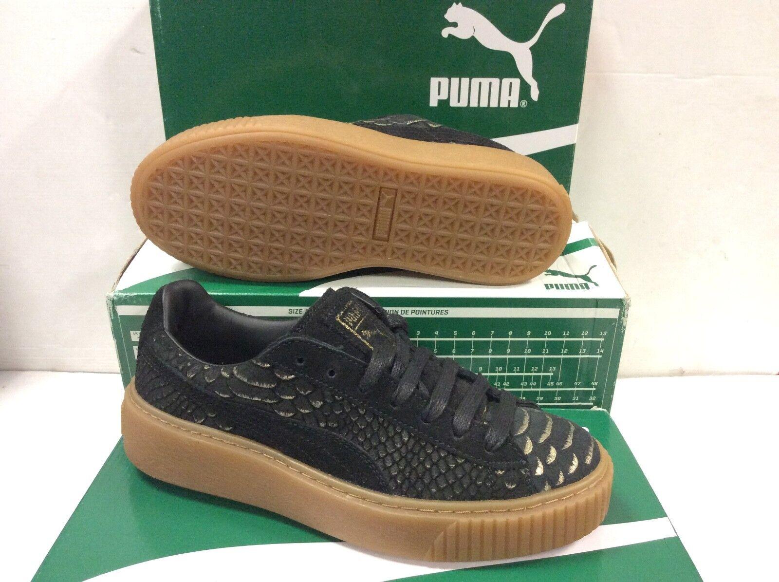 Puma Platform exotskin Or Noir Femmes Baskets, Taille UK 3 EU 35.5