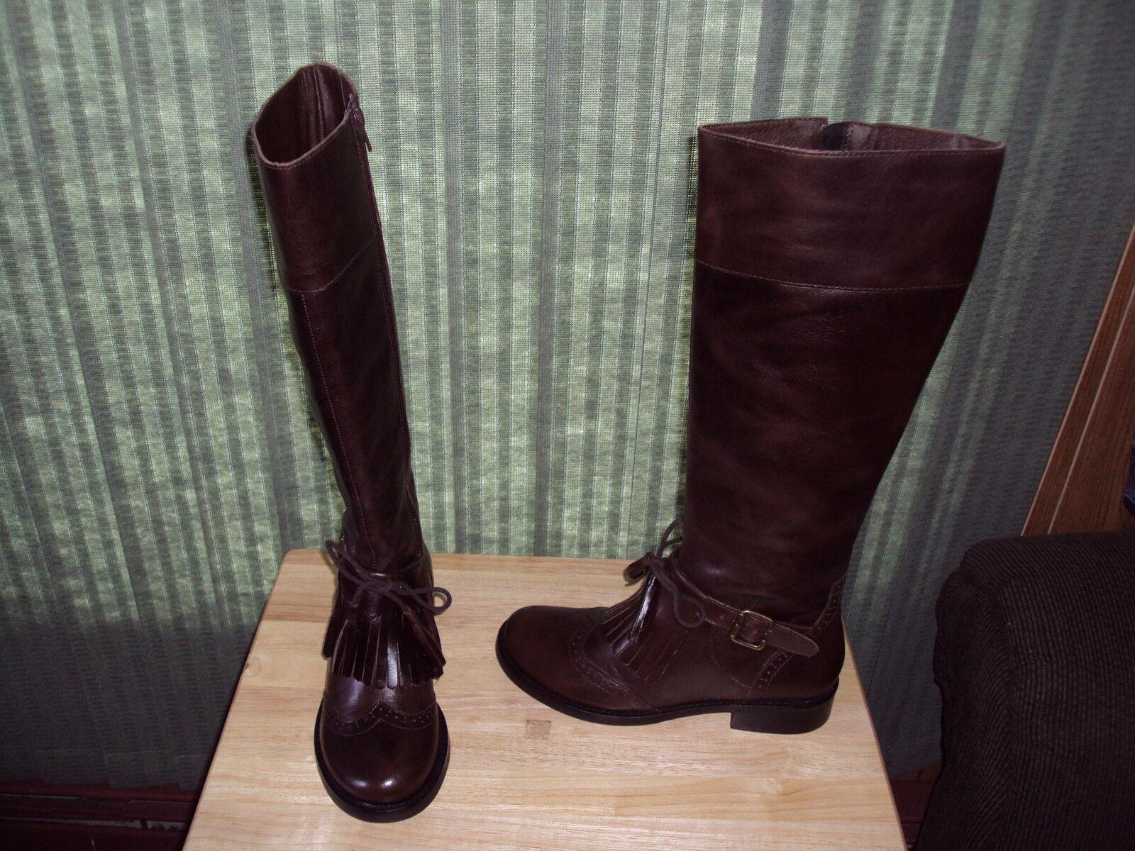 Montar cuero-up by e-Cobb botas. Talla M 6 1 2. - Nuevo