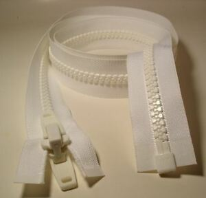 Marine Heavy Duty Vison YKK ZIPPER #10 WHITE 132/""