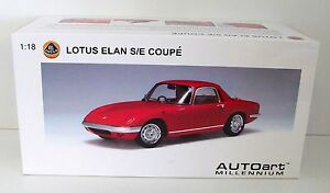 1-18-Autoart-Loto-Elan-S-E-Coupe-Red-Nuevo-en-Emb-Orig