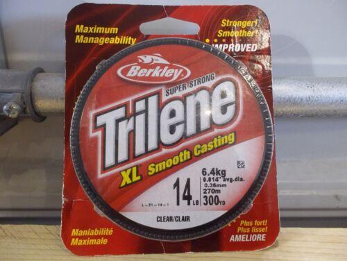 Berkley Trilene XL 14 lb 300 yards clear New
