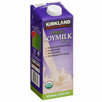 Kirkland Signature™ Organic Plain Soy Milk 32 Oz. Container 12pack Free Shipping