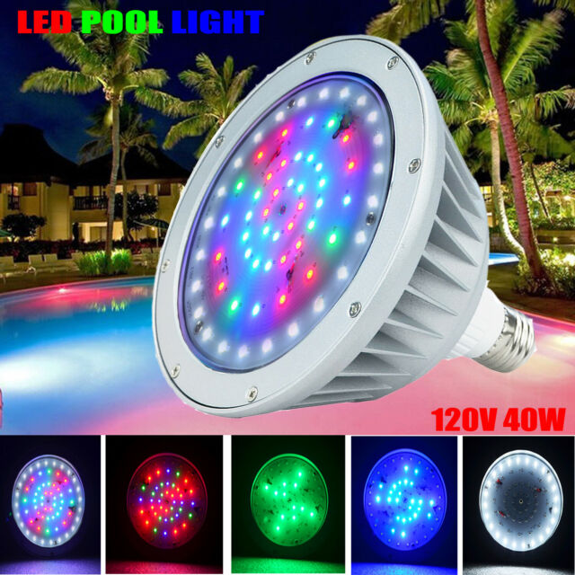 Ip65 40w Swimming Pool Led Light Bulb Rgb W Color Changing For Pentair Hayward