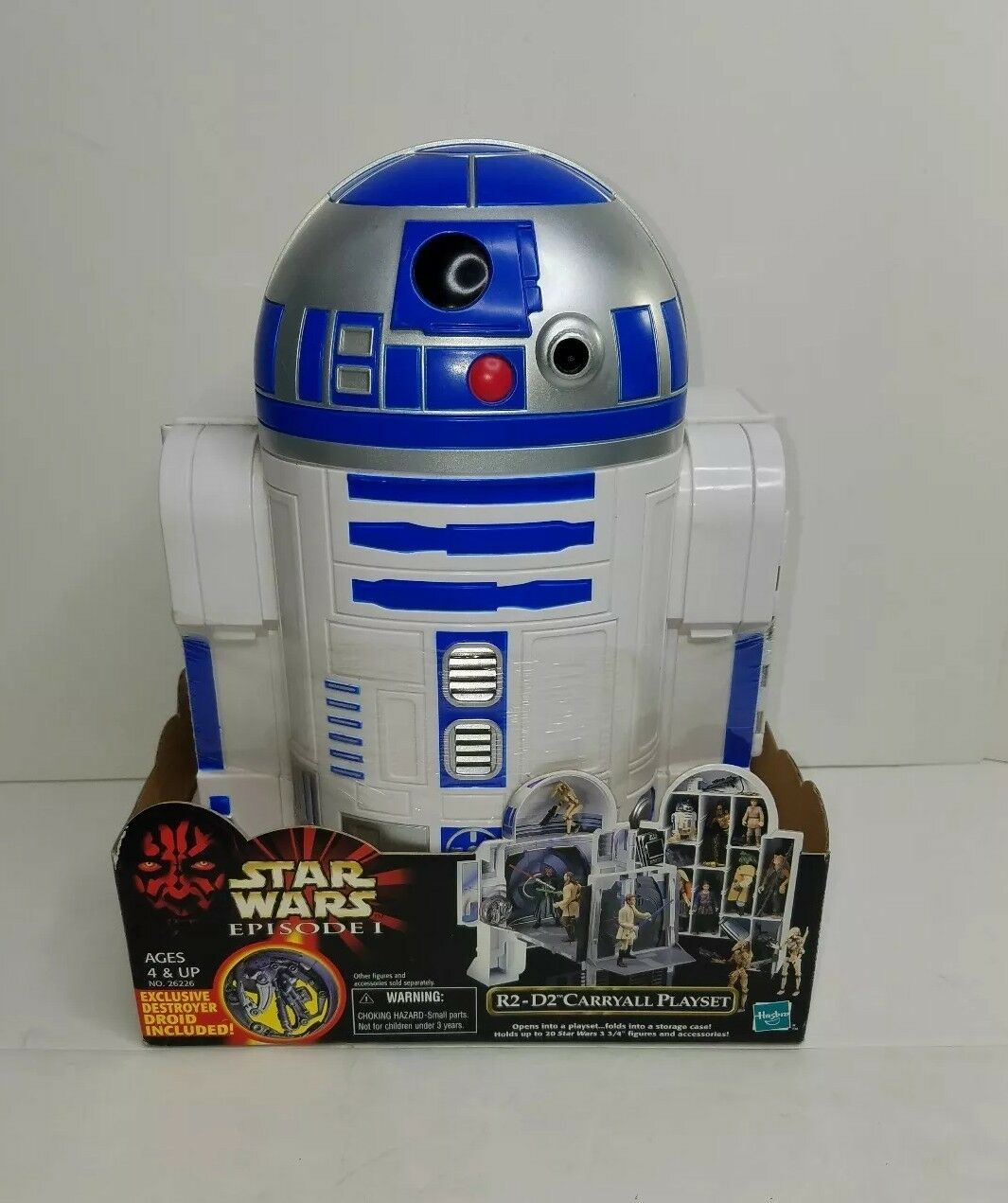 Star Wars 1999 Episode 1 R2-D2 CARRYALL PLAYSET w/ Exclusive Destroyer Droid NIB
