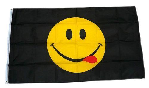 Flagge / Fahne Smile Smiley Schwarz NEU 90 x 150 cm