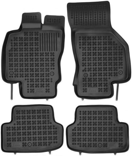 4-teilige schwarze Gummifußmatte für SEAT Leon III ab 2012 Leon ST ab 2014
