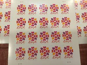 40- Hearts Blossom Love Forever Stamps - Wedding, Celebration, Graduation ,etc.
