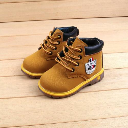 Toddler Kids Baby Children Warm Boys Girls Martin Sneaker Boots Casual Shoes