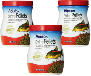 Shrimp-Sinking-Pellets-Fish-Food-6-5-Oz-Tropical-Goldfish-Catfish-Aqueon-06189