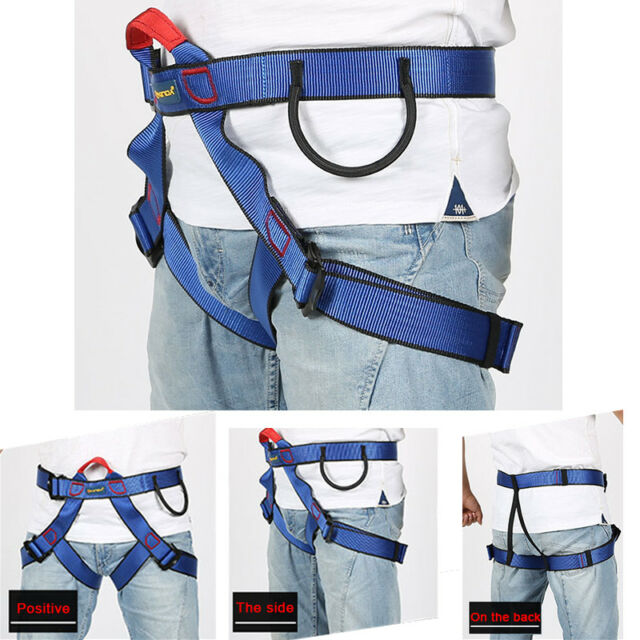 New Safety Climbing Harness Outdoor Half Body Rock Climbing Rappelling Belt Tool