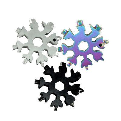 20 in 1 Edelstahl Schneeflocken Multi tool Mehrfachwerkzeug Silber Schneeflocke