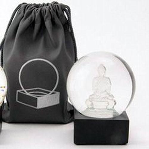 Crystal Buddha Buddha to Go Miniature Cool Snow Globe by CoolSnowGlobes