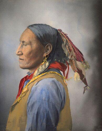METAL MAGNET Native American Black Horse Arapahoe Arapaho 1900 MAGNET